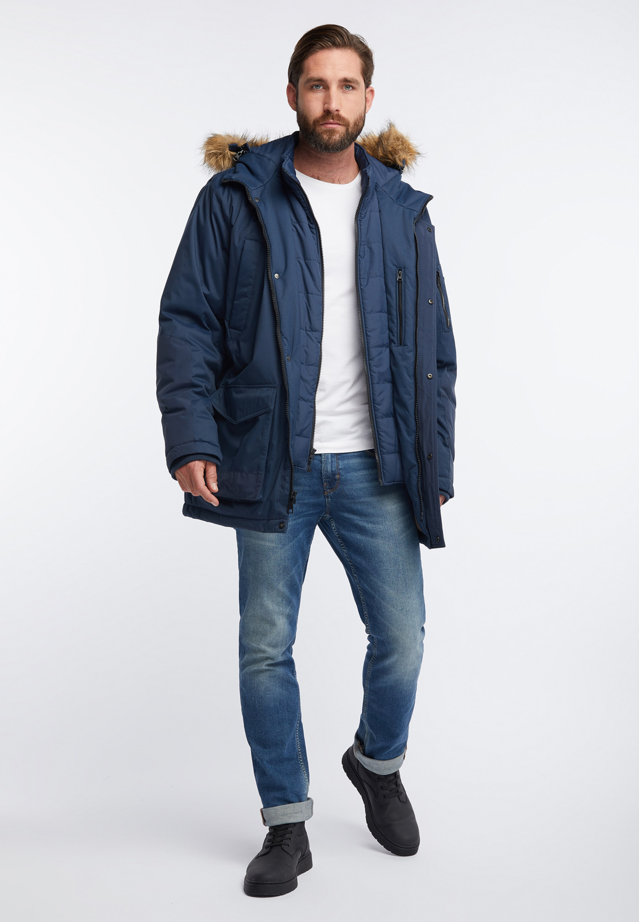 Bleu En Parka Co D'hiver Hawkeamp; PTkiOXZu