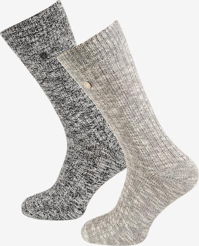 BIRKENSTOCK Socks in mottled grey / mottled black, Item view