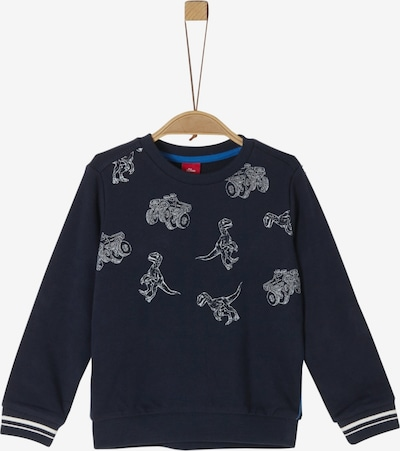 s.Oliver Junior Sweatshirt in enzian / grau, Produktansicht