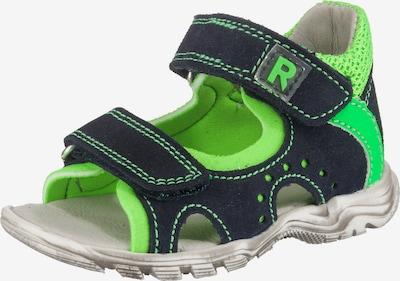 RICHTER Sandalen in nachtblau / limette, Produktansicht