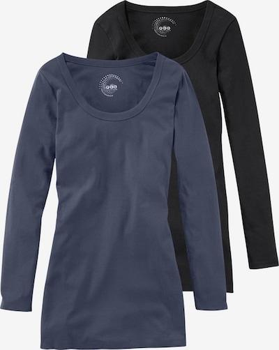 FLASHLIGHTS AJC  Longshirt in taubenblau / schwarz, Produktansicht