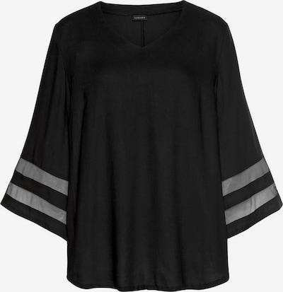 LASCANA Bluse in hellgrau / schwarz, Produktansicht