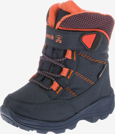 Kamik Boots 'STANCE' en bleu nuit / orange foncé, Vue avec produit