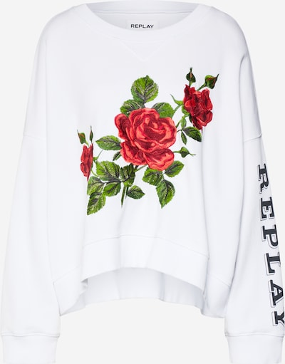 REPLAY Sweatshirt in weiß: Frontalansicht