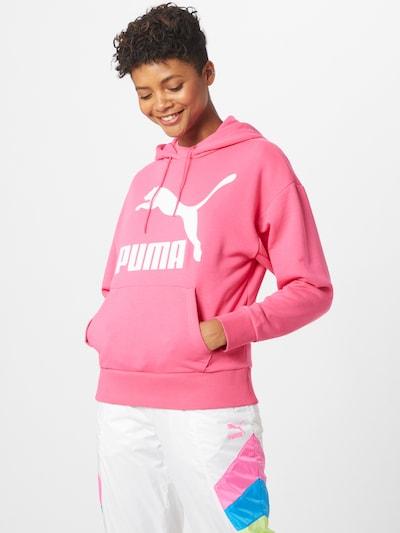 Bluză de molton PUMA pe roz / alb, Vizualizare model