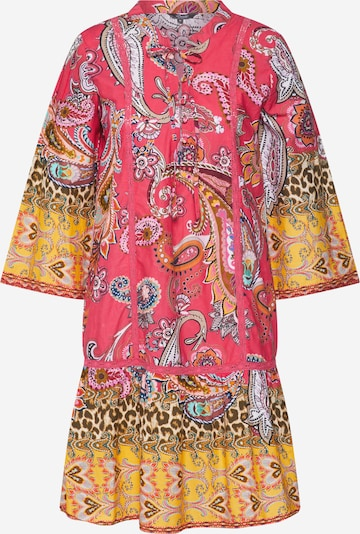 PRINCESS GOES HOLLYWOOD Poletna obleka | rumena / neonsko roza barva, Prikaz izdelka