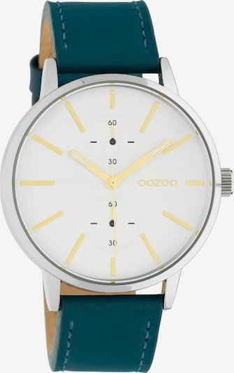 OOZOO Uhr 'C10587' in petrol / silber / weiß, Produktansicht