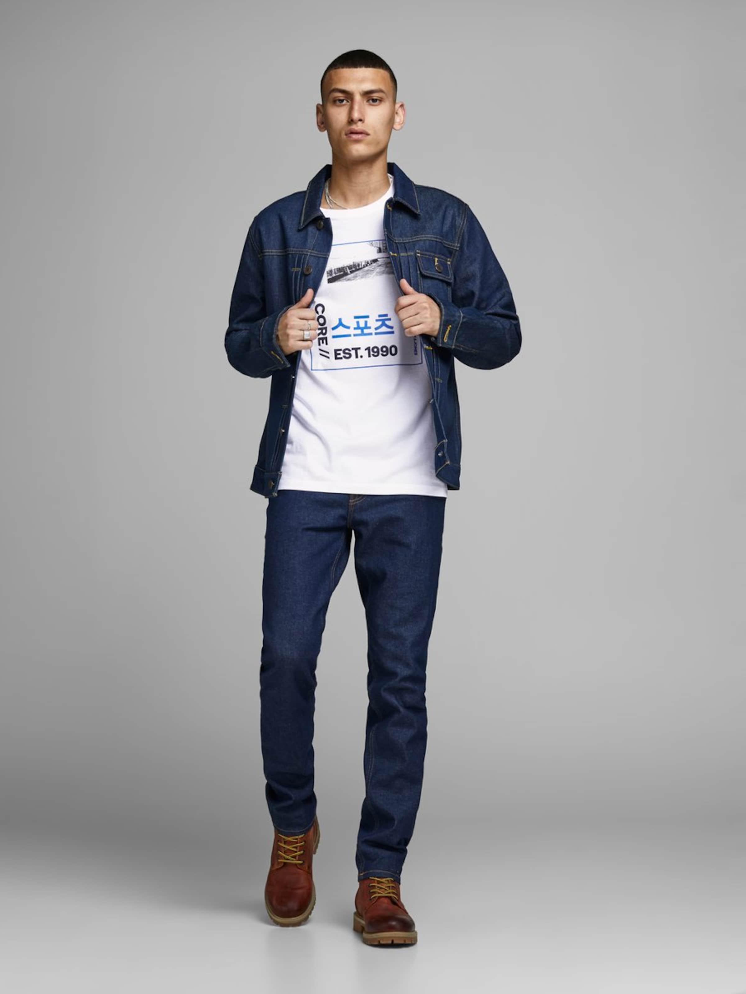 Jackamp; En CouleursBlanc shirt De T Mélange Jones Nnwy80PvmO