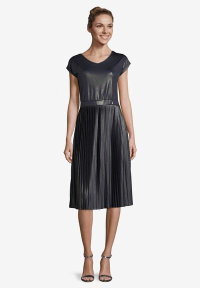 Betty Barclay Jerseykleid mit Plissee in dunkelblau: Frontalansicht