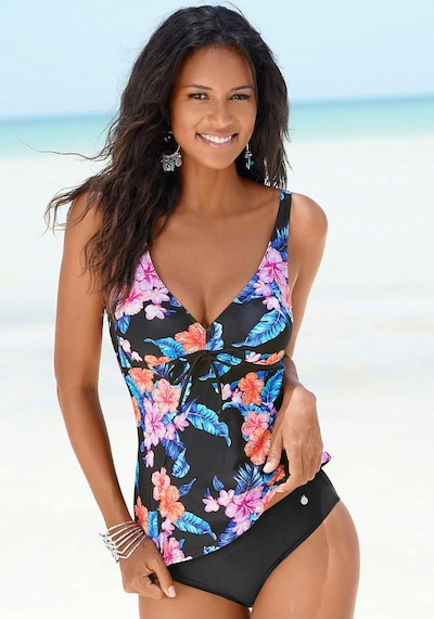 LASCANA Tankini in Mixed colours / Black, View model