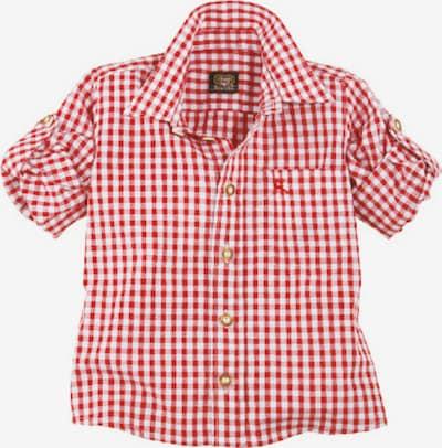 OS-TRACHTEN Trachten Kinderhemd kariert in rot / weiß, Produktansicht