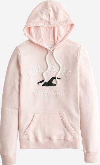 HOLLISTER Sweatshirt in hellpink / schwarz / weiß, Produktansicht