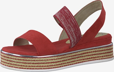 MARCO TOZZI Sandale in rot / silber, Produktansicht