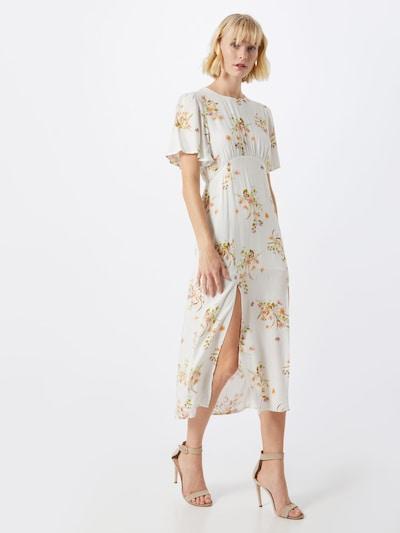 MINKPINK Šaty 'FLORAL BEAUTY MIDI DRESS' - žltá / biela: Pohľad spredu