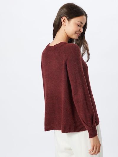 Megztinis 'MIRNA' iš ONLY , spalva - vyno raudona spalva: Vaizdas iš galinės pusės