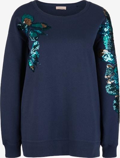 TRIANGLE Sweatshirt in aqua / dunkelblau / gold / petrol, Produktansicht
