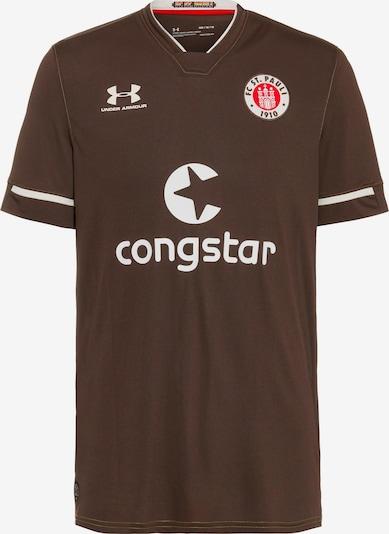 UNDER ARMOUR Fußballtrikot 'FC St. Pauli 20/21 Heim' in braun / weiß, Produktansicht