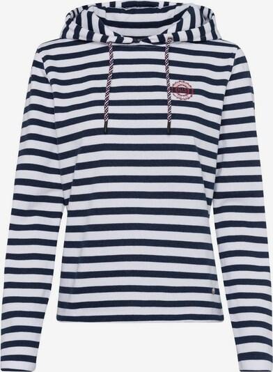 HIS JEANS Sweatshirt in navy / weiß, Produktansicht