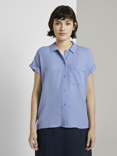 MINE TO FIVE Kurzärmlige Hemdbluse in blau, Modelansicht