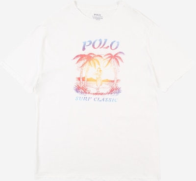 POLO RALPH LAUREN T-Shirt in blau / orange / rot / weiß, Produktansicht