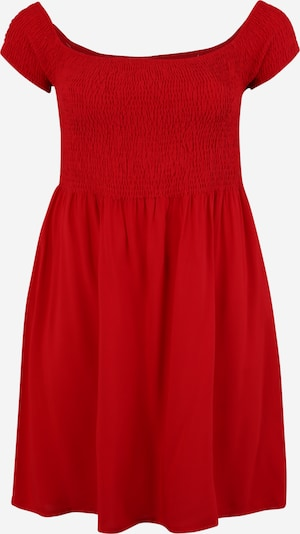 Urban Classics Kleid 'Smoked' in rot: Frontalansicht