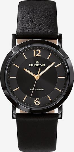 DUGENA Damen-Uhr in gold / schwarz, Produktansicht