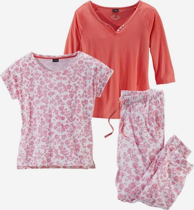VIVANCE Pyjama in de kleur Koraal / Rosa / Wit, Productweergave