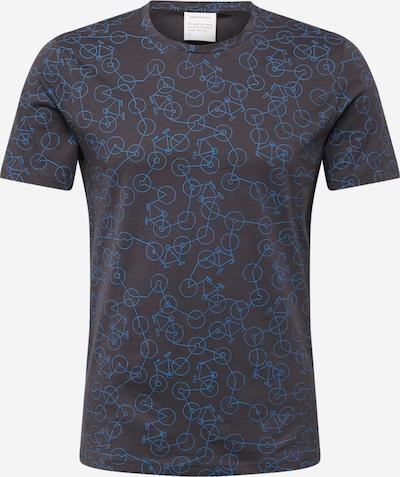 ARMEDANGELS T-Shirt 'Jaames Mini Bike Chaos' in hellblau / basaltgrau, Produktansicht