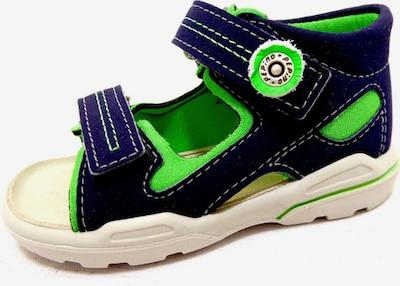 RICOSTA Sandalen in nachtblau / limette, Produktansicht