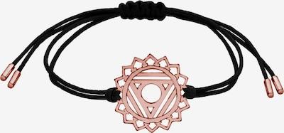 Nenalina Armband 'Chakra' in rosegold / schwarz: Frontalansicht