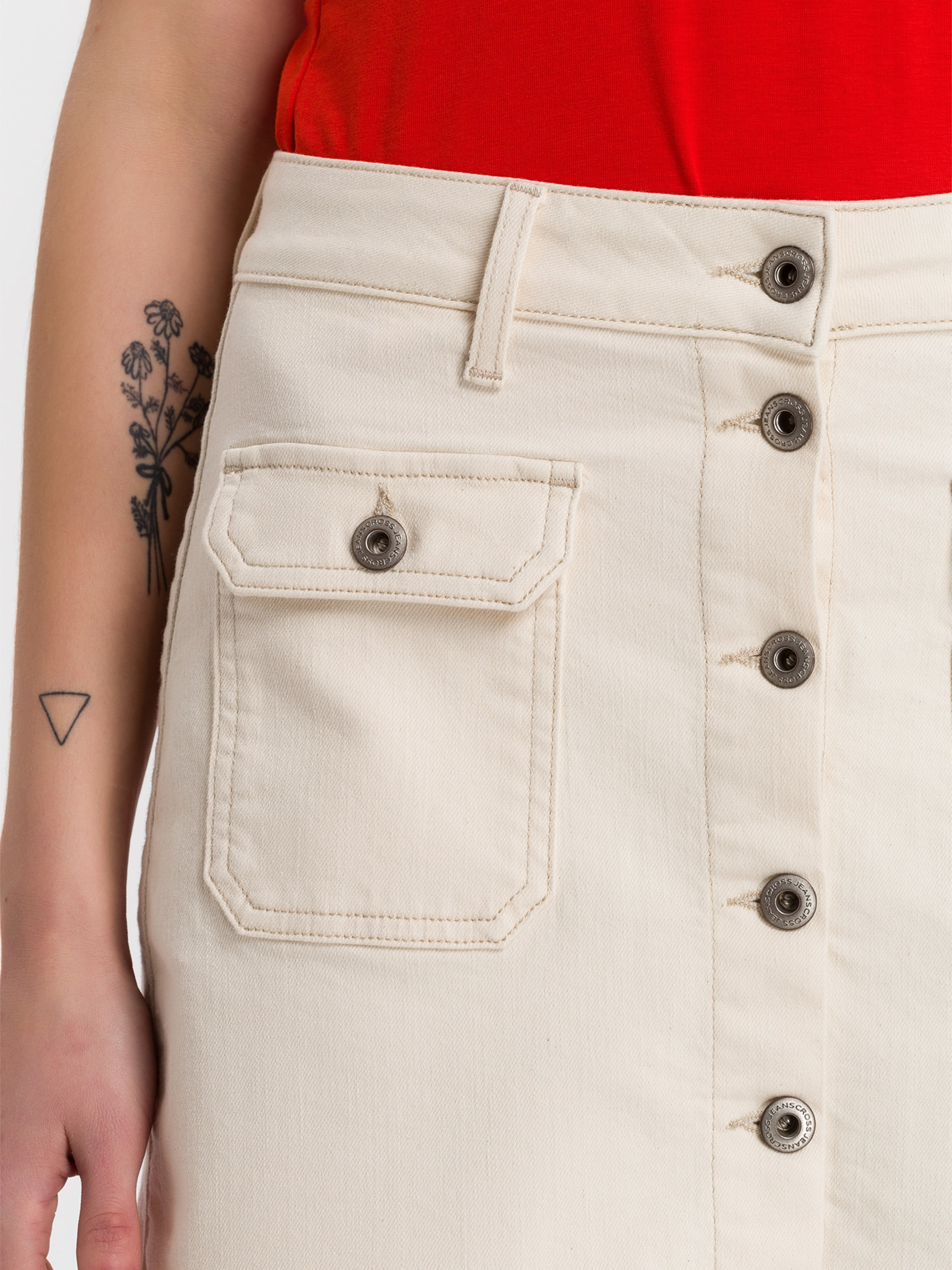 Jeans Rock Beige In 'tracy' Cross 80Nmnvw