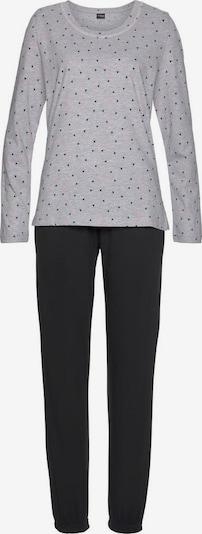 VIVANCE Piżama 'Dreams' w kolorze nakrapiany szary / różowy pudrowy / czarnym, Podgląd produktu