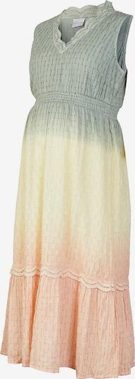 MAMALICIOUS Jurk 'EMILIA' in de kleur Geel / Groen / Perzik, Productweergave