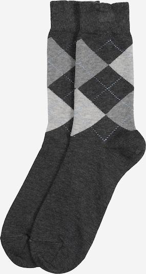 BURLINGTON Sokken 'Queen Sock' in de kleur Lichtgrijs / Donkergrijs, Productweergave