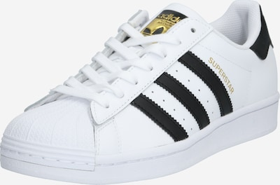 ADIDAS ORIGINALS Baskets basses 'SUPERSTAR' en or / noir / blanc, Vue avec produit