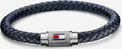 TOMMY HILFIGER Armband 'Casual Core' in dunkelblau / silber, Produktansicht