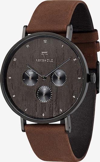 Kerbholz Armbanduhr 'Caspar' in braun, Produktansicht