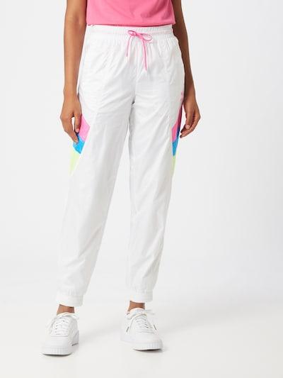 PUMA Nohavice - modrá / ružová / biela: Pohľad spredu