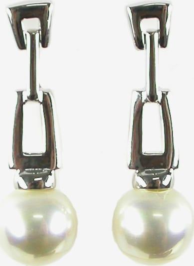 Orquidea Perlenohrringe in silber / perlweiß, Produktansicht