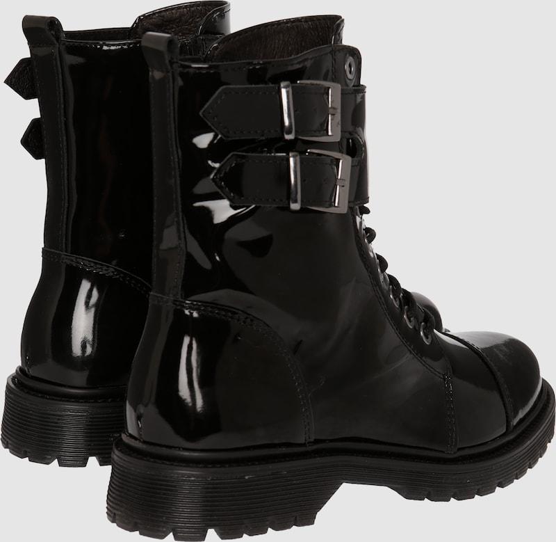BRONX Biker-Boots in Lackoptik Verschleißfeste billige Schuhe