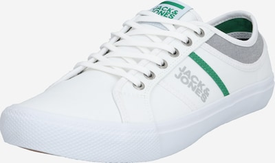 JACK & JONES Sneaker 'JFWROSS CANVAS COMBO' in grau / grün / weiß, Produktansicht