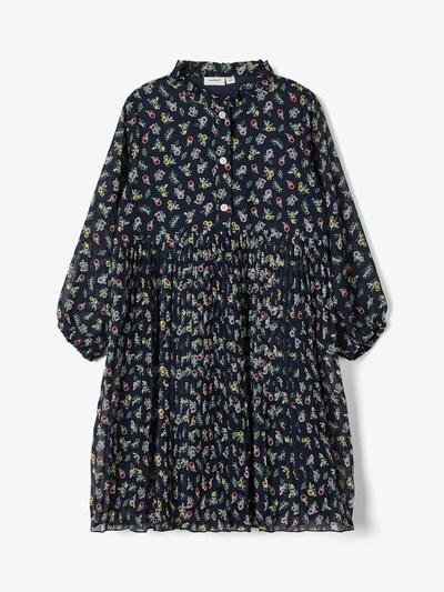 NAME IT Kleid in dunkelblau / mischfarben, Produktansicht