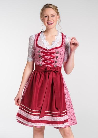 SPIETH & WENSKY Dirndl 'Nudel' in pink / rot / weiß, Modelansicht