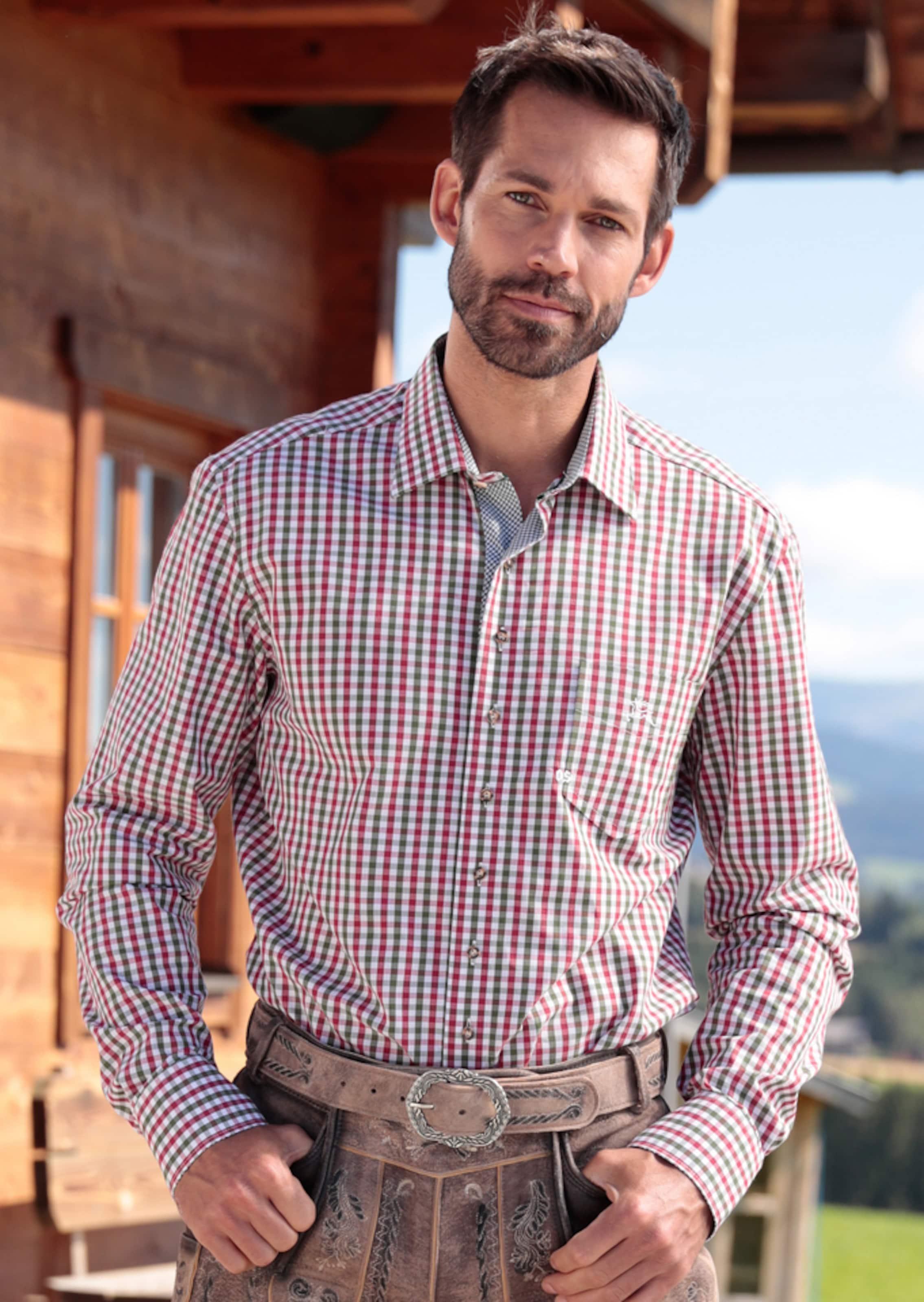 Ausgezeichnete Online-Verkauf Rabattpreise OS-TRACHTEN Trachtenhemd mit Kontrastmanschetten Auslass-Websites KbTDqP8