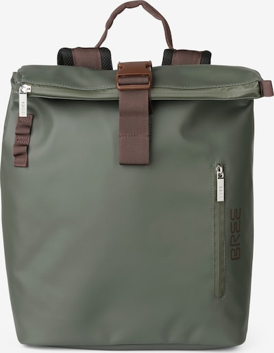 BREE Rucksack 'Punch 712' in braun / grün / schwarz, Produktansicht