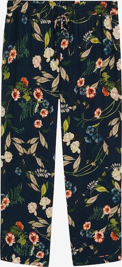 Pantaloni VIOLETA by Mango pe albastru cobalt / culori mixte, Vizualizare produs