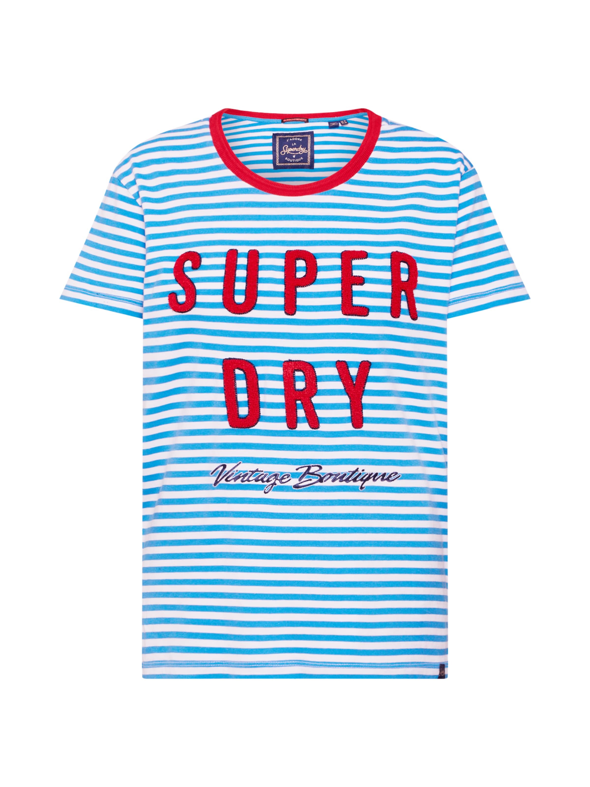 shirt In HellblauRot Graphic' Superdry 'payton T Weiß AjL4R5