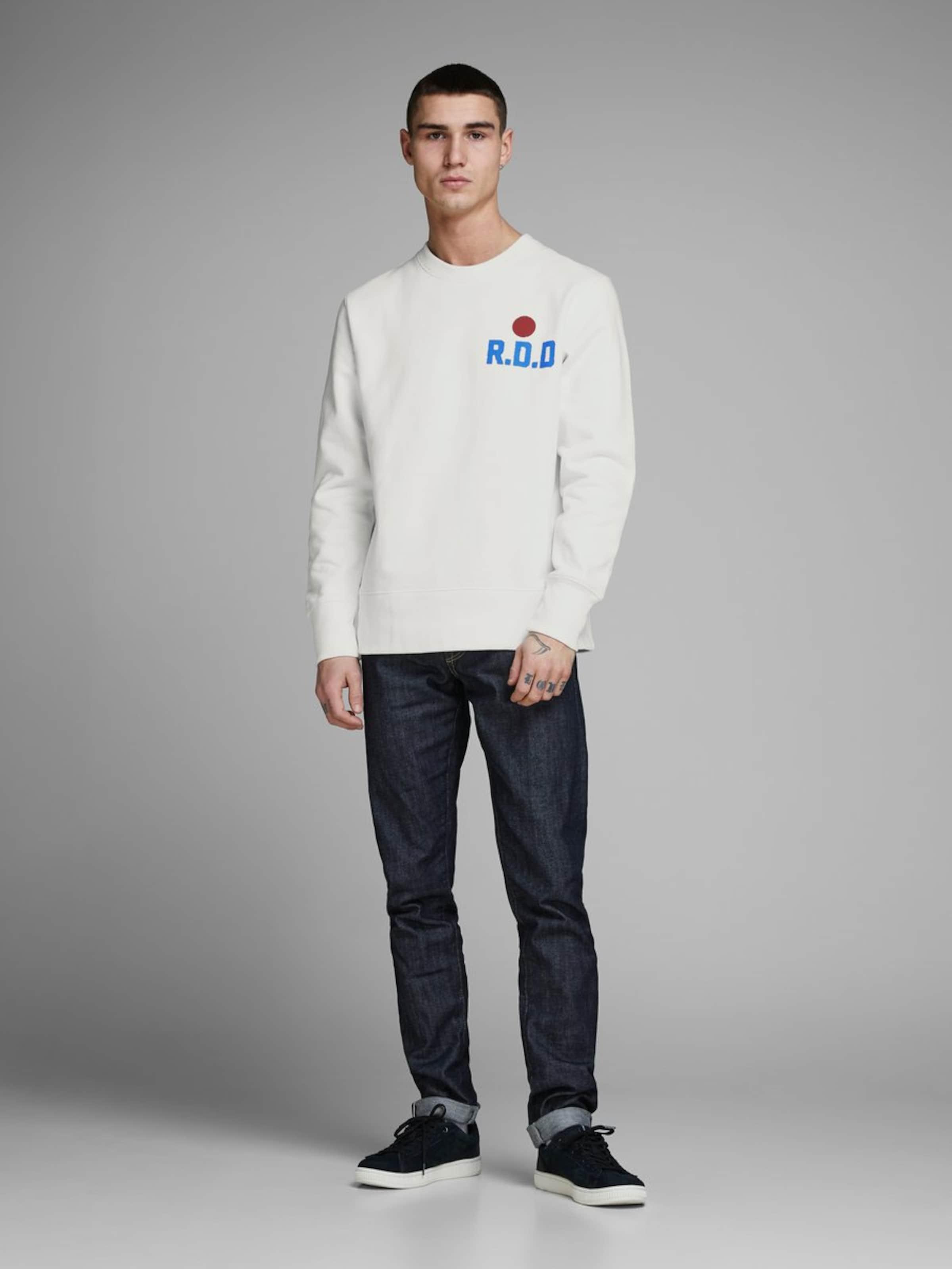 Jackamp; Jones Weiß Sweatshirt In Jones Jackamp; Weiß Sweatshirt In TF1cJ3lK
