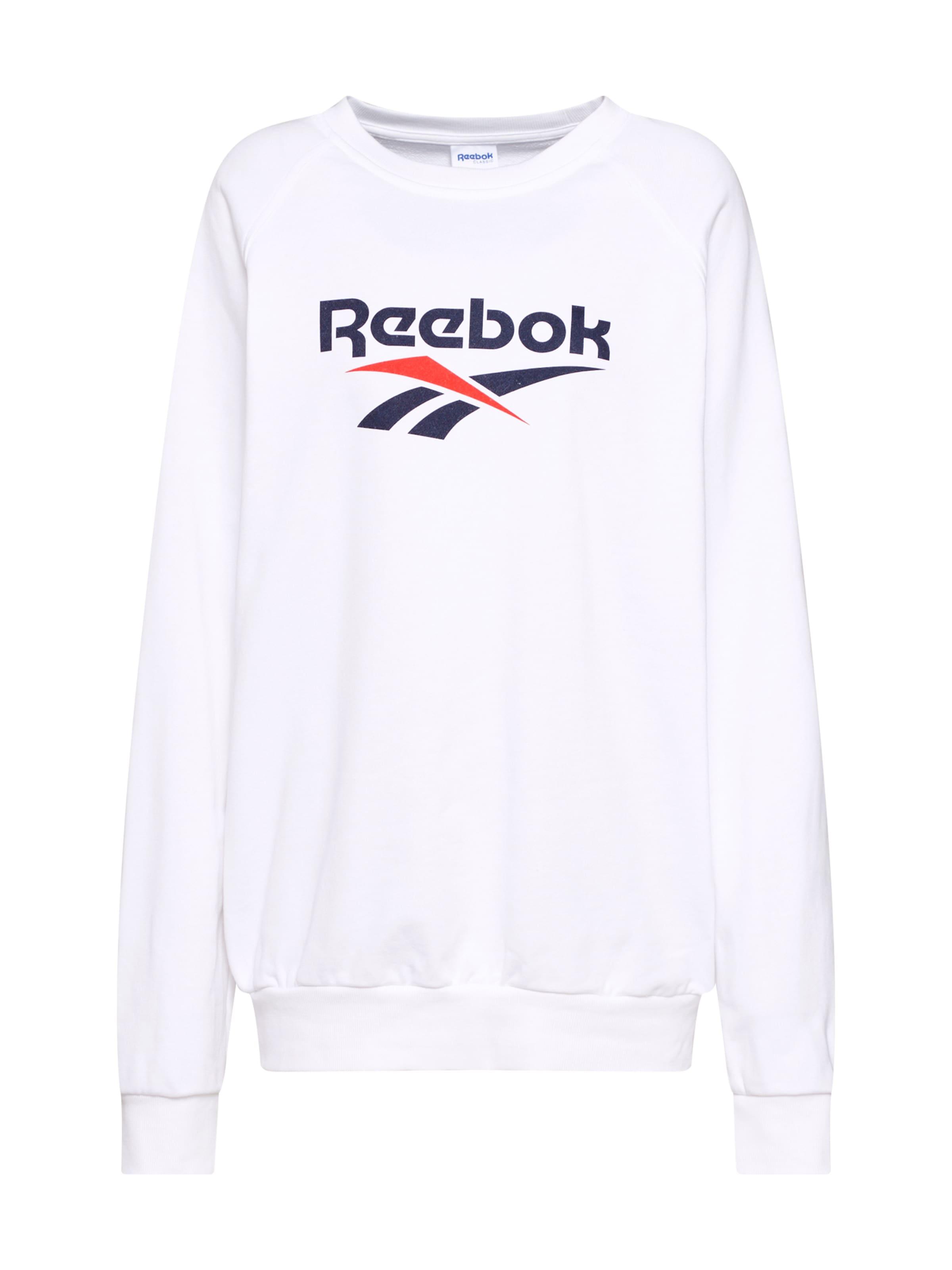 MarineRouge shirt Bleu En Blanc Reebok Classic Sweat DHIW29YE