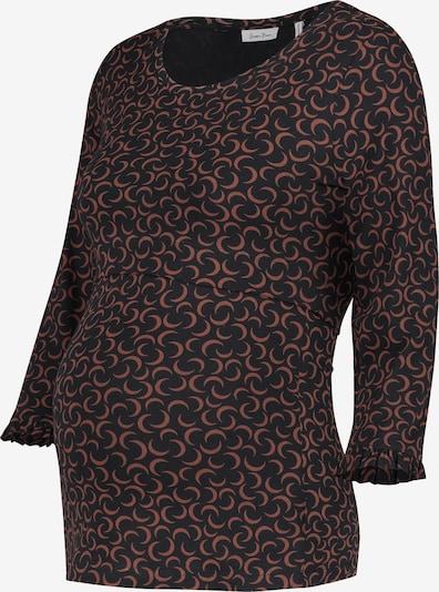QUEEN MUM Shirt in braun / schwarz, Produktansicht
